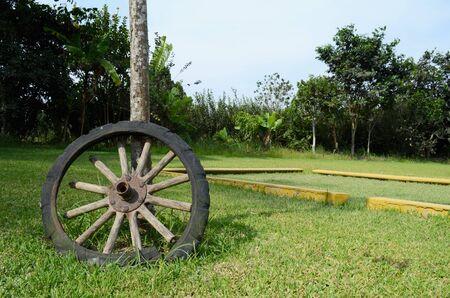 wood old wheel oxide