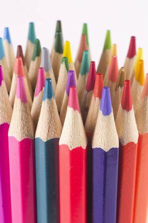 kolory kolorowe drewniane ołówki art