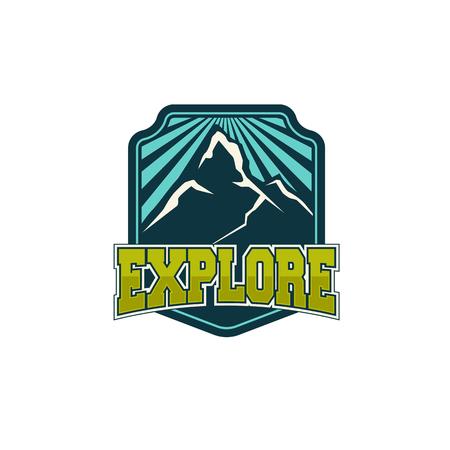 adventure vintage badge Banco de Imagens - 83309290