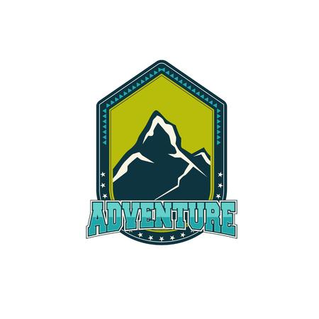 adventure vintage badge Banco de Imagens - 83309314