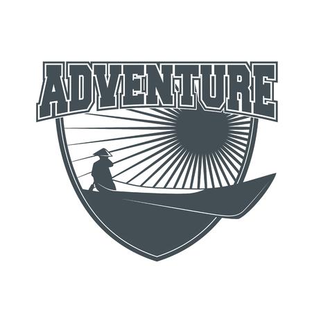 Aventure insigne vintage Banque d'images - 83309333