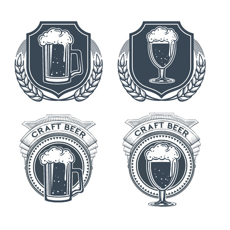 Craft beer vector, symbol or label template