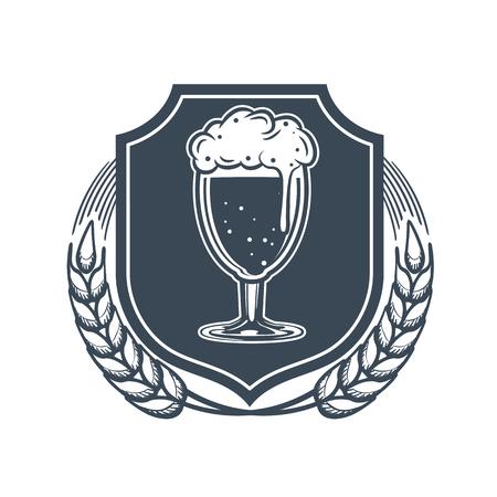 Craft beer vector logo, symbol or label template