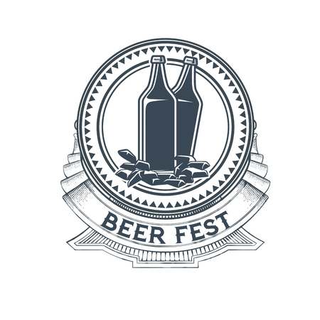 Craft beer vector logo, symbol or label template