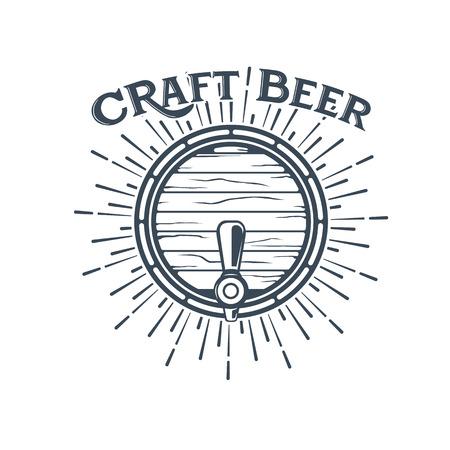 Craft beer vector, symbol or label template