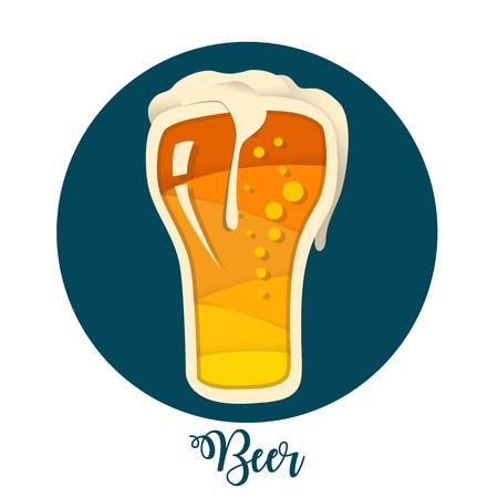 Template for Bar menu alcohol drink Illustration