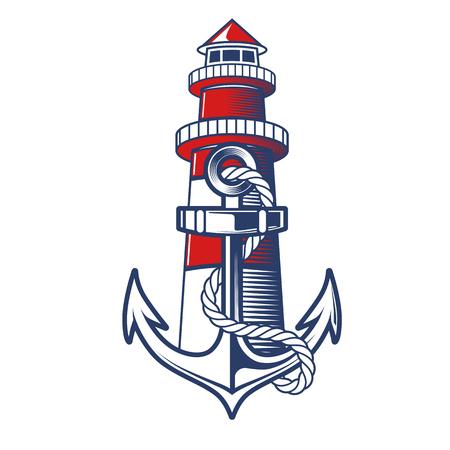 pez vela: Cresta náutica del ancla Vectores