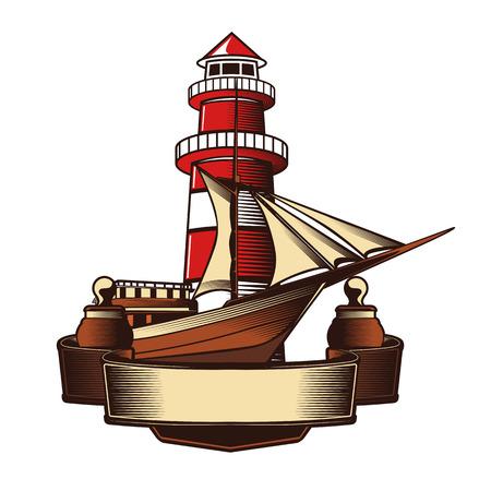 Nautical Anchor Crest Vector illustration. Illustration