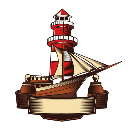 paddle wheel: Nautical Anchor Crest Vector illustration. Illustration