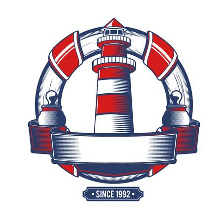 Nautical Anchor Crest Vector illustration. Stock Illustratie