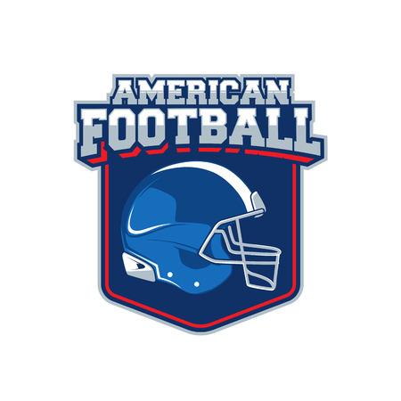 Vector label van Amerikaans voetbal