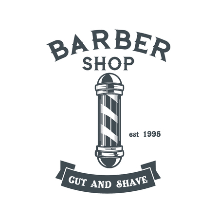 Barber shop logo vector template
