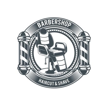 理容店のロゴ ベクトル テンプレート