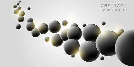 Abstract molecules design. Vector illustration Illusztráció