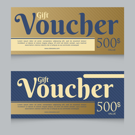 Voucher, Gift certificate, Coupon template Illustration