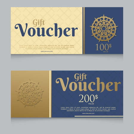 Voucher, Gift certificate, Coupon template Stock Vector - 94156960