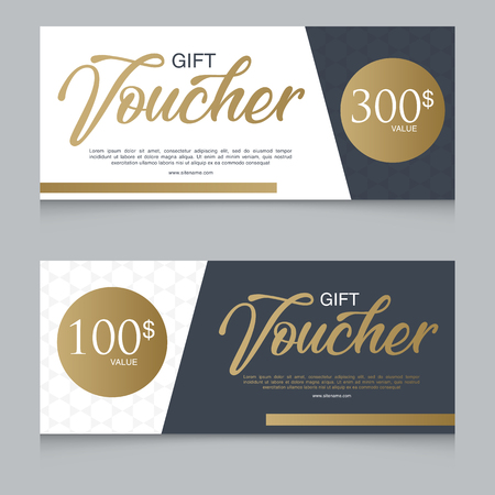Voucher, Gift certificate, Coupon template Stock Vector - 94156995