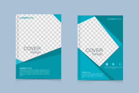 パンフレットデザインテンプレートベクトル。チラシ年次報告書ビジネスマガジンのポスターとポートフォリオ  イラスト・ベクター素材