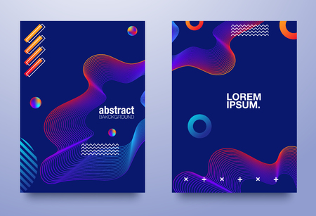 Colorful geometric background. Fluid shapes composition