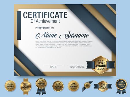 Multipurpose Professional Certificate Template Design for Print. Vector illustration Vektoros illusztráció
