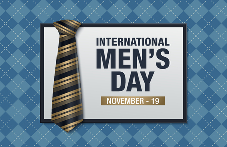 International men's day vector greeting card