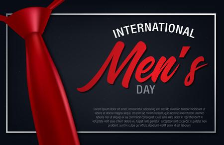 Vektor-Illustration des Internationalen Männertags. Happy Men's Day Grußkarte