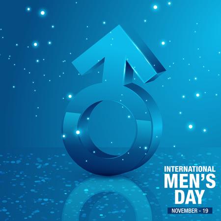 Vector Illustration of International Men's Day. Happy Men's day greetings card Vector Illustration