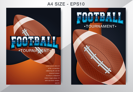 modern professional poster american football and rugby game - Vector
