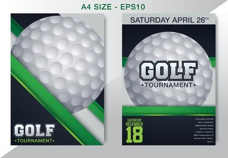 Vector Golf Tournament Brochure, Flyer, Magazine Cover & Poster Template - Vector
