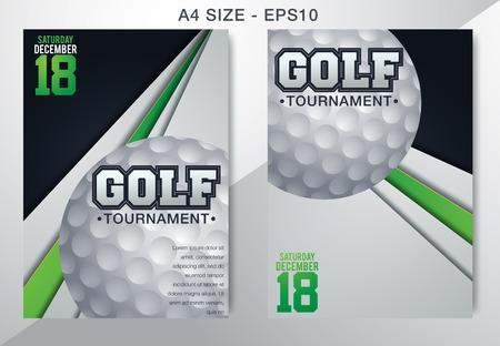 Golf tournament poster template flyer
