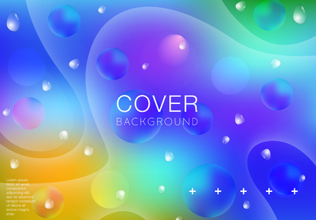 Abstract background with different colors and lines. Modern and creative vector template. - Vector