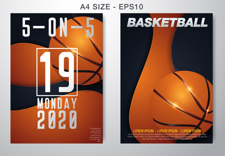 Basketball tournament, modern sports posters design. Vector illustration