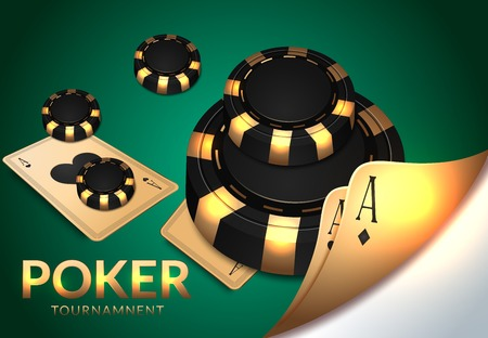 Casino gambling, roulette wheel and dice, luck and win. Vector play cards and poker chips