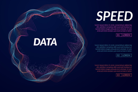 Vector abstract 3D big data visualization. Futuristic infographics aesthetic design Illustration