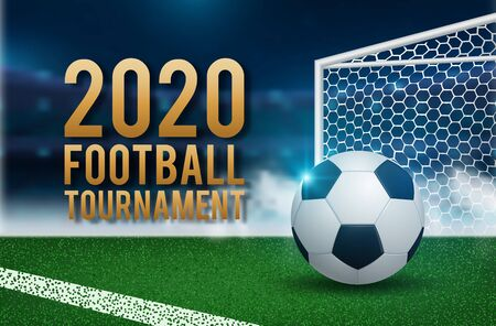 football 2020 world championship cup background soccer. Vector illustration
