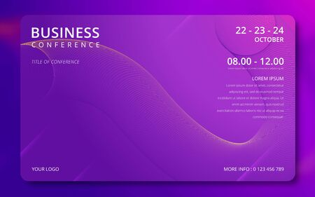 Conference design template. Business background. Colorful elements. Announcement conference. Abstract cover design. Vector illustration