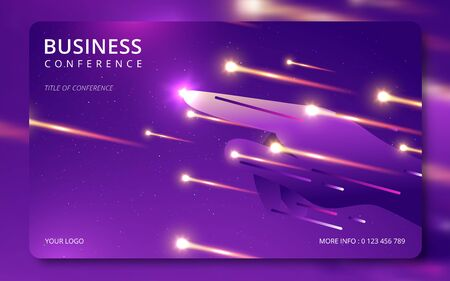 Business conference simple template invitation. Geometric magazine conference or poster business meeting design banner Illustration