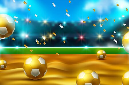 football 2020 world championship cup background soccer. Realistic 3d ball