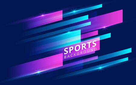 Modern colored poster for sports. Vector illustration Ilustracja