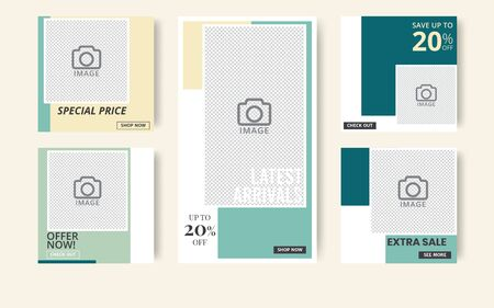 Social media banner template. Use it to advertise on social networks, advertise your product and announcements. Vector illustration