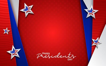Illustration Of happy Presidents Day Background. Vector illustration