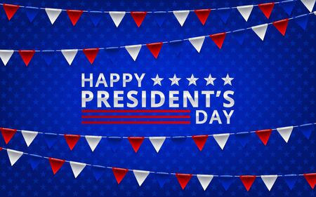 president day poster with red and blue design independence design day. Vector illustration