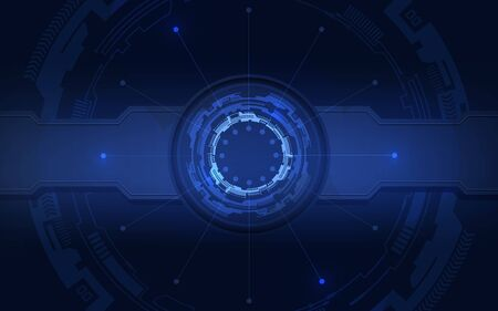Abstract future technology with Blue Background. Vector Illustration