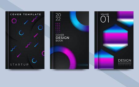 Liquid Neon Bright Trendy cover. Vector illustrator
