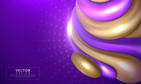 Abstract composition with 3d spherical bubbles. Vector illustration