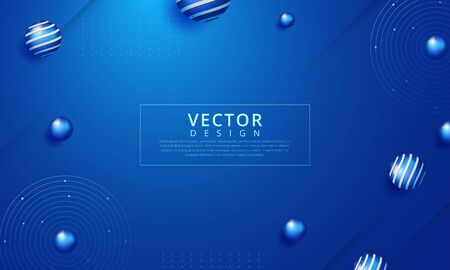 Minimal geometric background. Dynamic shapes composition. Vector illustration