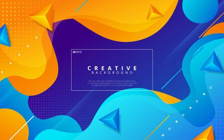 Dynamic texture background with fluid shapes modern concept. Creative geometric wallpaper. Vector illustration
