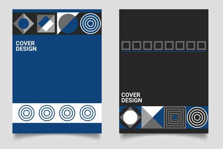 Retro Design Poster Geometric Elements Иллюстрация