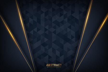 dark premium background with luxury dark golden geometric elements