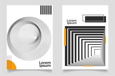 Set of abstract creative minimalist art composition